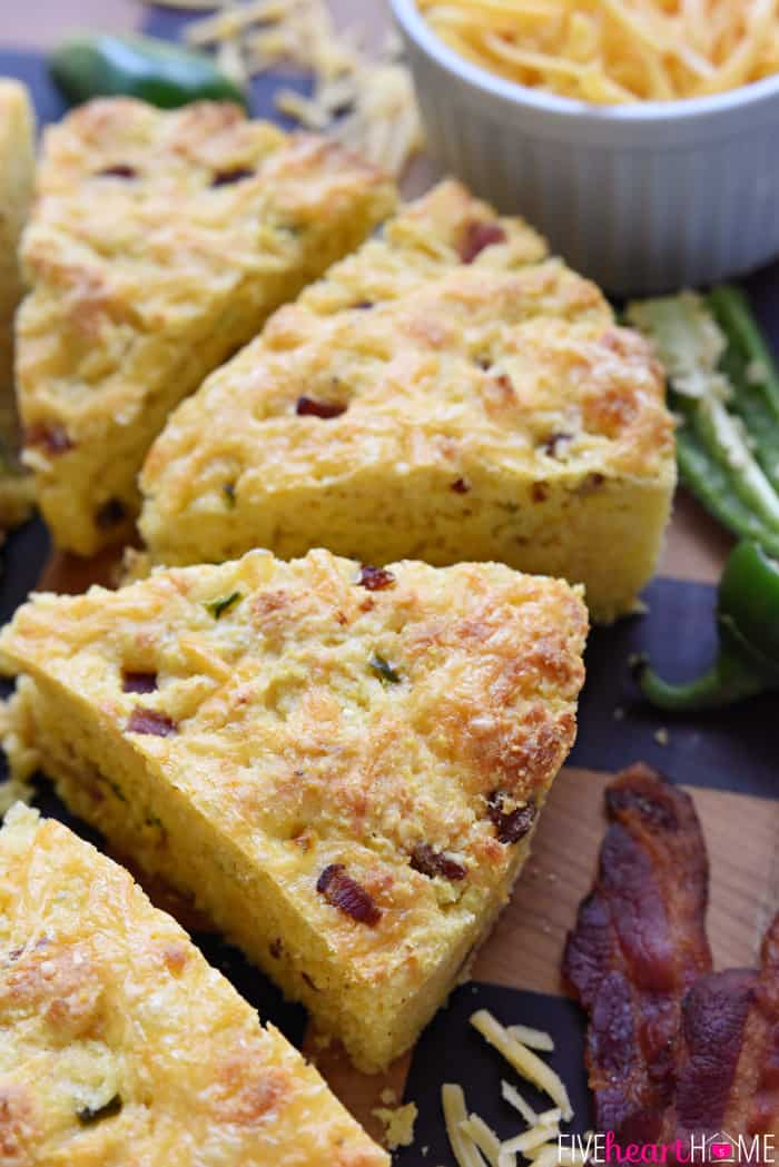 Bacon Cheddar Jalapeño Cornbread ~ moist, tender, and loaded with ...