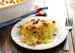 Cheesy Scalloped Potatoes with Ham
