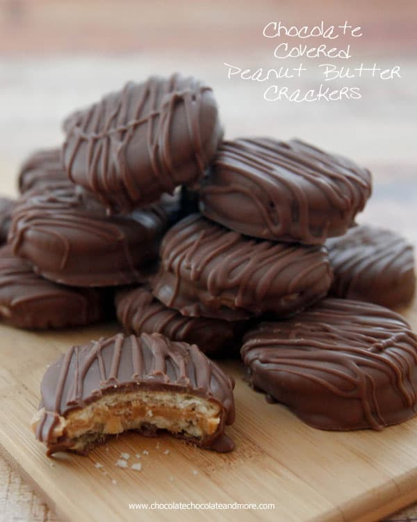 Chocolate Covered Peanut Butter Crackers | ChocolateChocolateAndMore.com