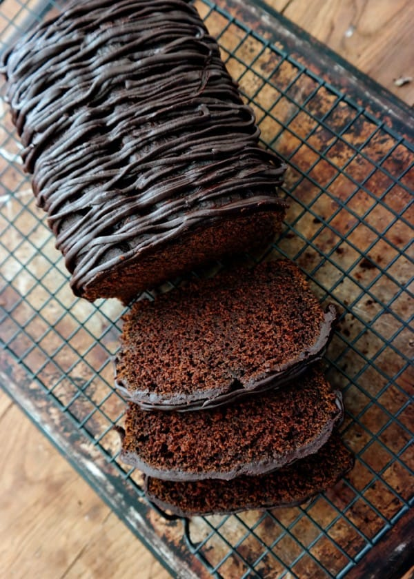 Chocolate Pumpkin Pound Cake with Chocolate Ganache | ChocolateChocolateAndMore.com