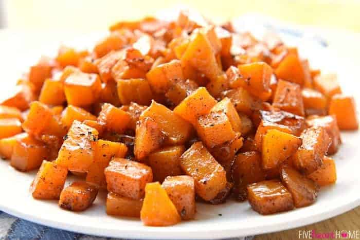 Cinnamon Maple Roasted Squash features vitamin-packed butternut squash ...