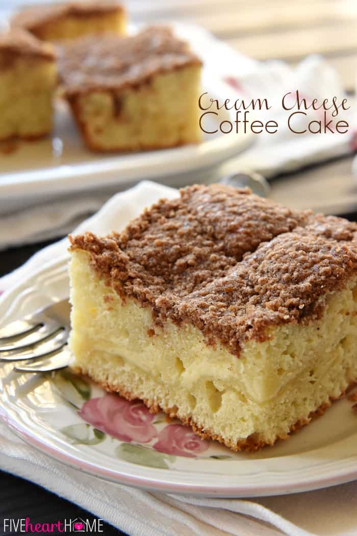 Cream Cheese Coffee Cake Swirled With A Ribbon Of Sweet And Tangy Filling