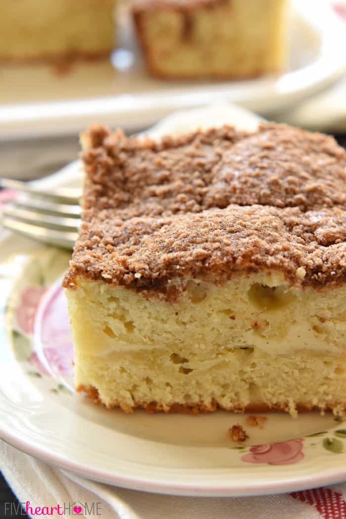 Cream Cheese Coffee Cake ~ swirled with a ribbon of sweet and tangy ...