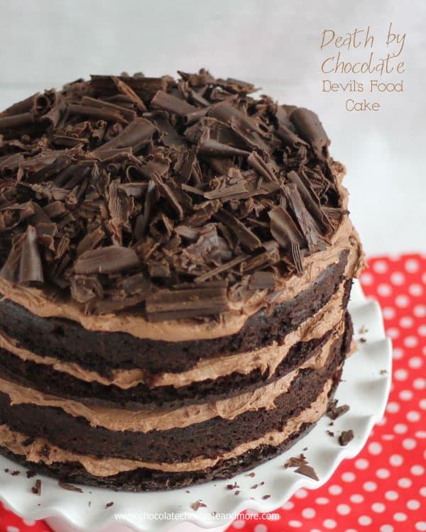 Death by Chocolate Devil's Food Cake | ChocolateChocolateAndMore.com