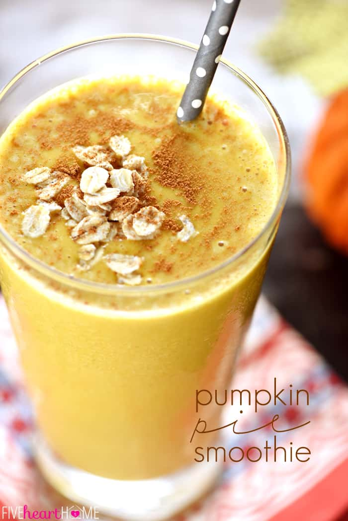 Pumpkin Pie Smoothie ~ a fall twist on thick, frosty, healthy oat ...