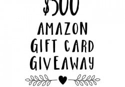 $500 Amazon Gift Card Giveaway…just in time for Black Friday!