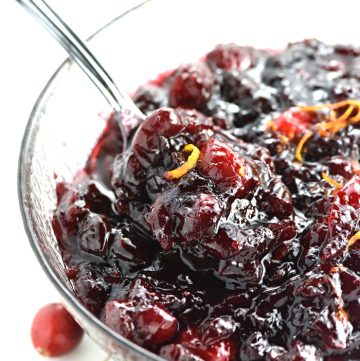 Cranberry Cherry Sauce.