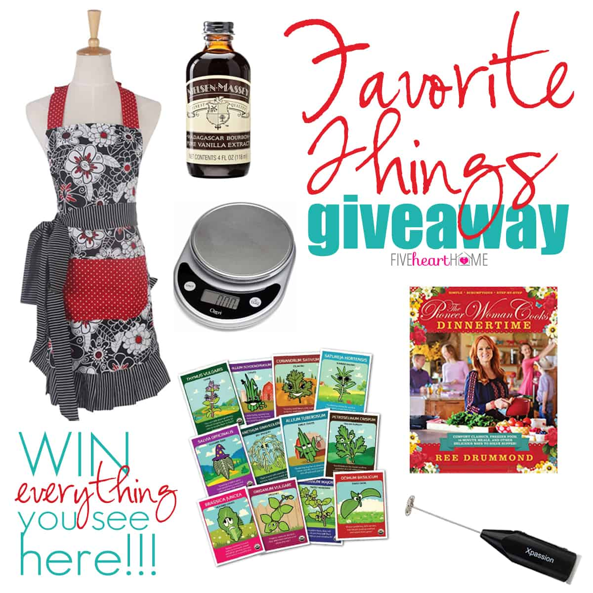 Favorite Things Giveaway from our 2015 Holiday Gift Guide for Foodies | FiveHeartHome.com