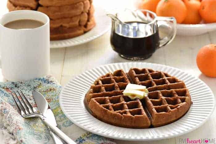 Whole Wheat Gingerbread Waffles