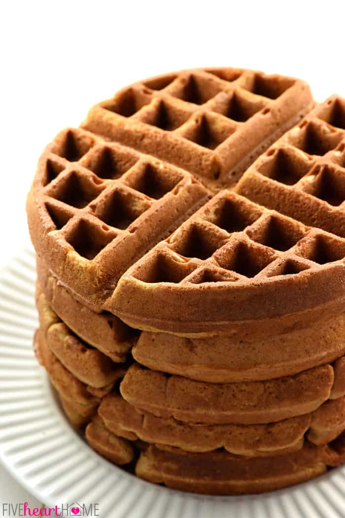 Stack of Gingerbread Waffles