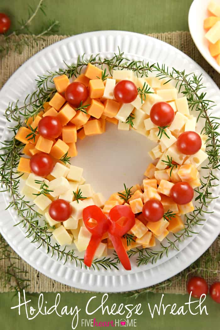 Marvelous Christmas Party Appetizer Ideas Part - 3: Holiday Cheese Wreath ~ This Easy And Festive Christmas Party Appetizer Is  Made By Arranging Cubes