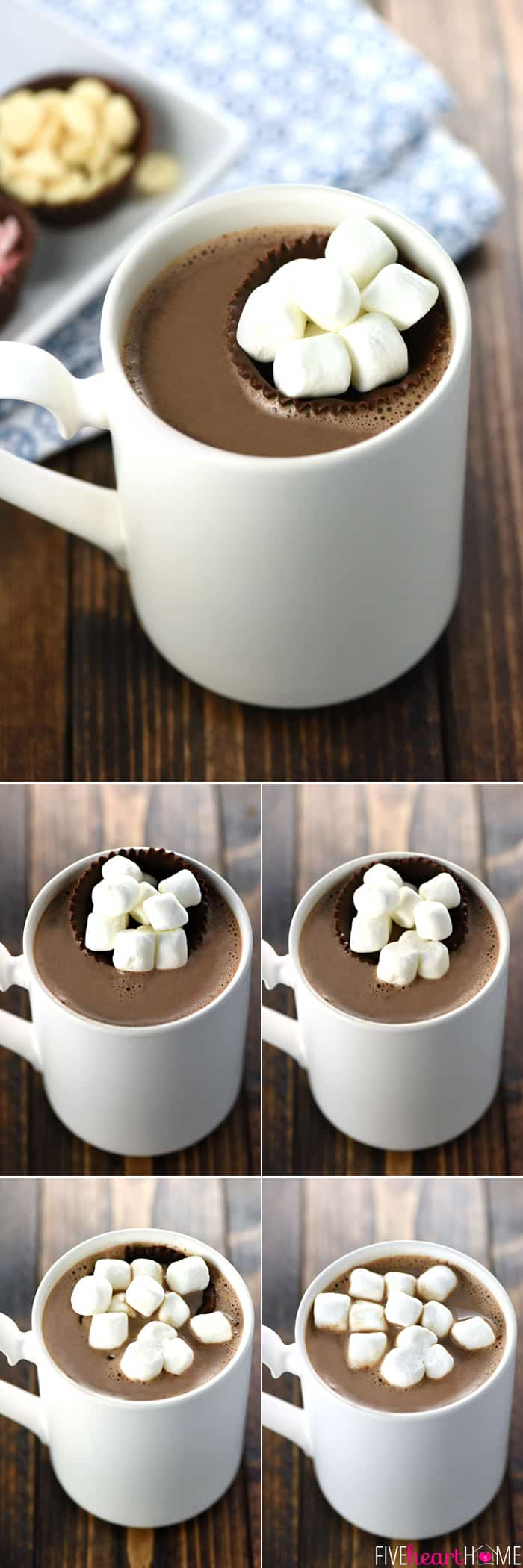 Steps Showing How Hot Chocolate Floaters Melt for the Perfect Cup of Hot Chocolate