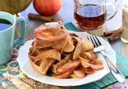 Whole Wheat Apple Cinnamon Waffles…and I'M BACK!