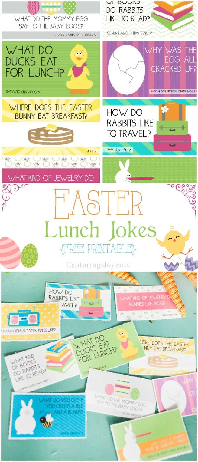 Easter Lunchbox Jokes Free Printable