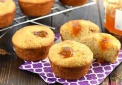 Peachy Cornbread Muffins