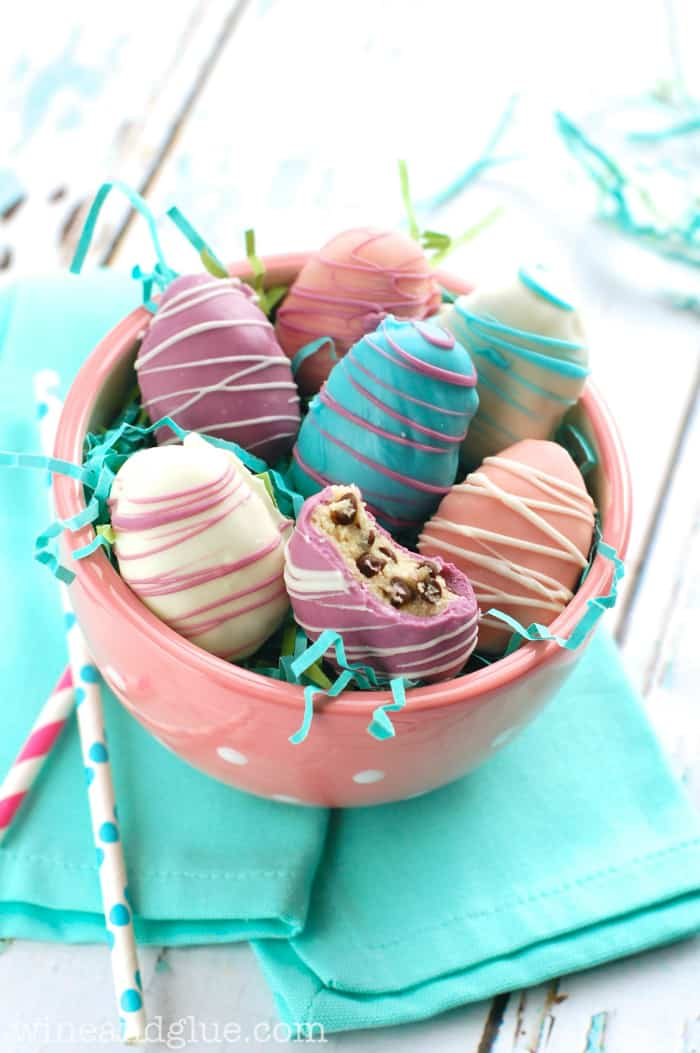 Easter Egg Cookie Dough Truffles