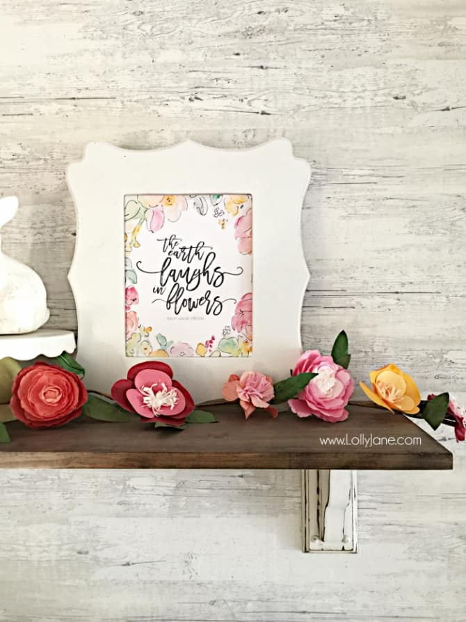 """The Earth Laughs in Flowers"" Spring Art Free Printable"