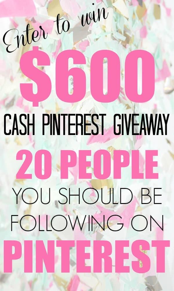$600 Cash Giveaway