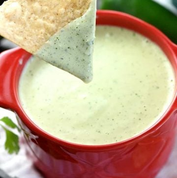 Creamy Jalapeño Dip {Chuy's Copycat Recipe} + VIDEO