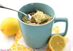 Lemon Poppy Seed Muffin Mug Cake
