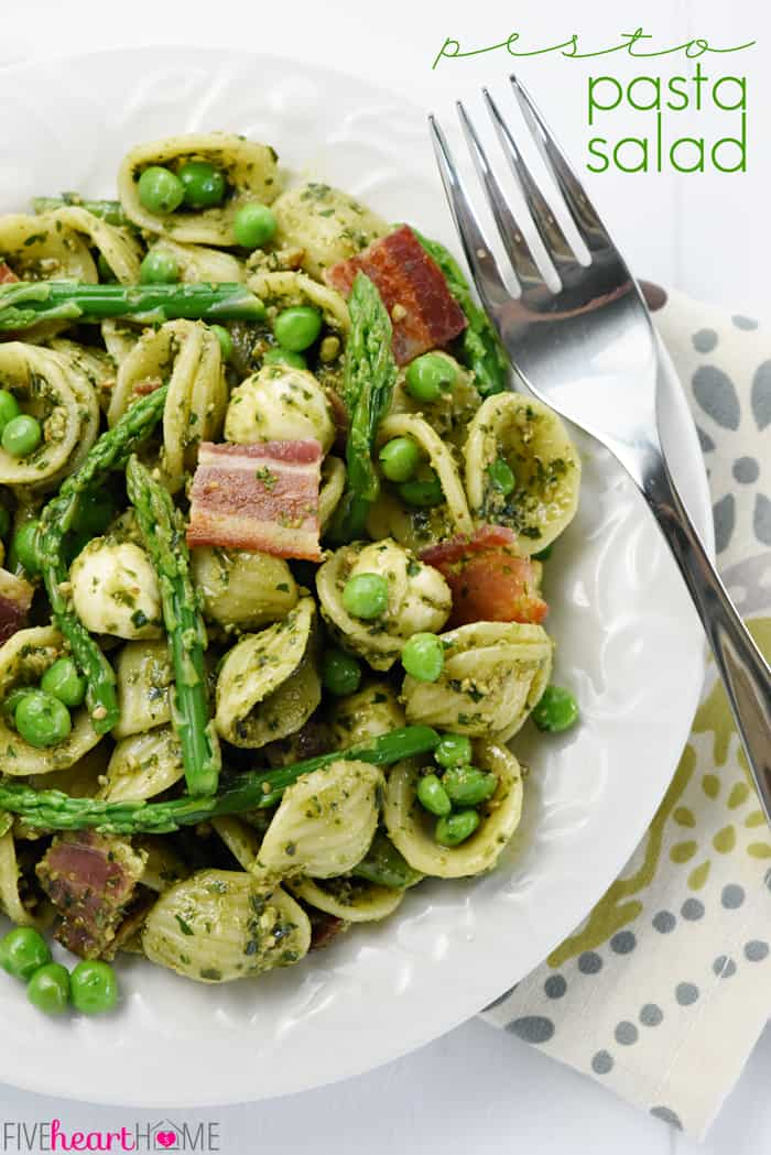 Pesto Pasta Salad with Text Overlay