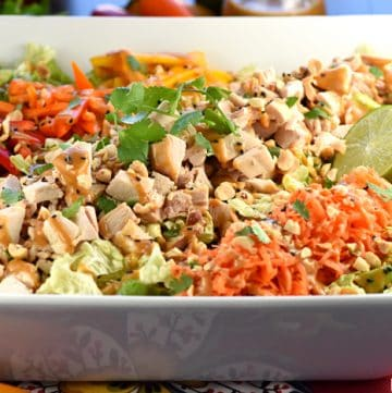Thai Chicken Chopped Salad with Peanut Dressing