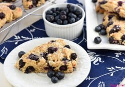 Whole Wheat Greek Yogurt Blueberry Scones