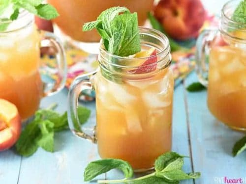 Minty Peach Tea Punch Fivehearthome