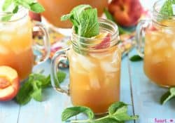 Minty Peach Tea Punch