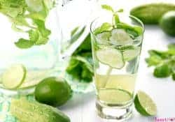 Cucumber Mint Infused Water {with or without lime}