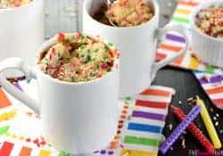 Funfetti Mug Cake + Five Heart Home's 3rd Blogiversary