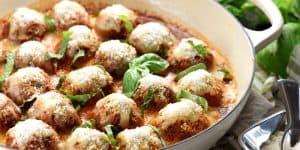 Parmesan Meatball Skillet