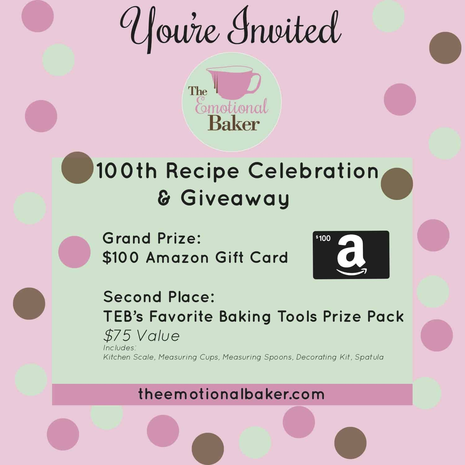 Amazon Gift Card Giveaway + Favorite Baking Tools Giveaway