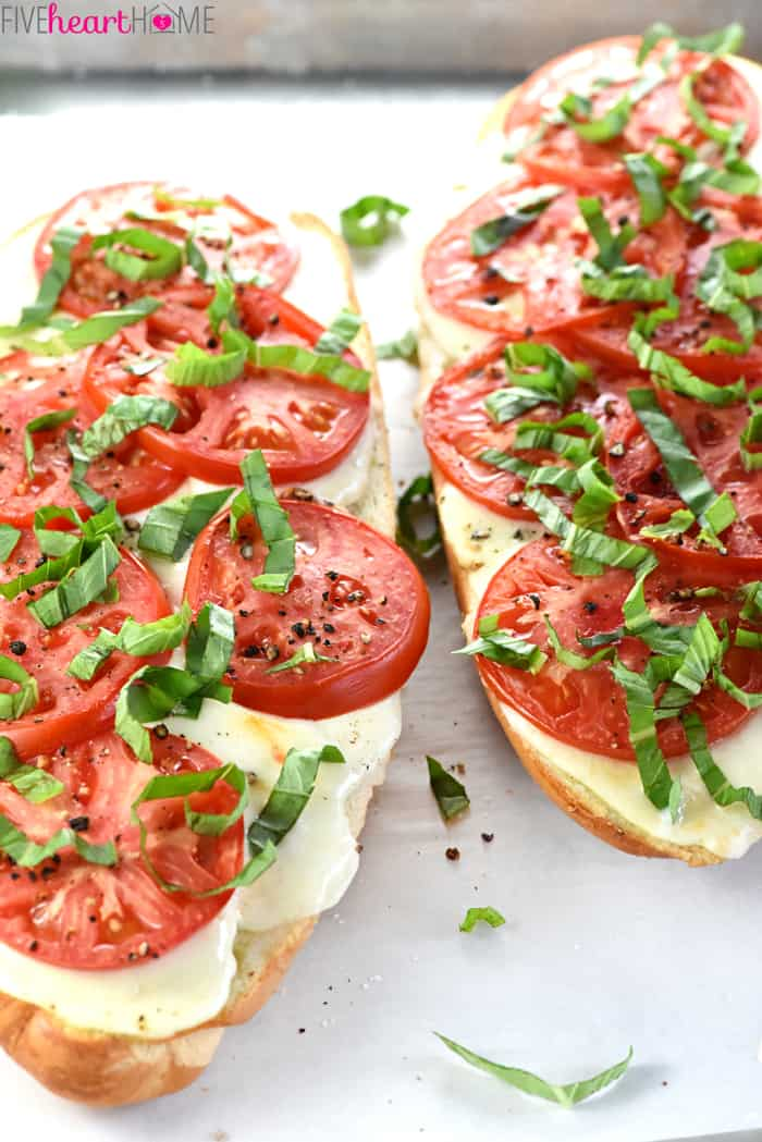 Caprese French Bread Pizza Close-Up