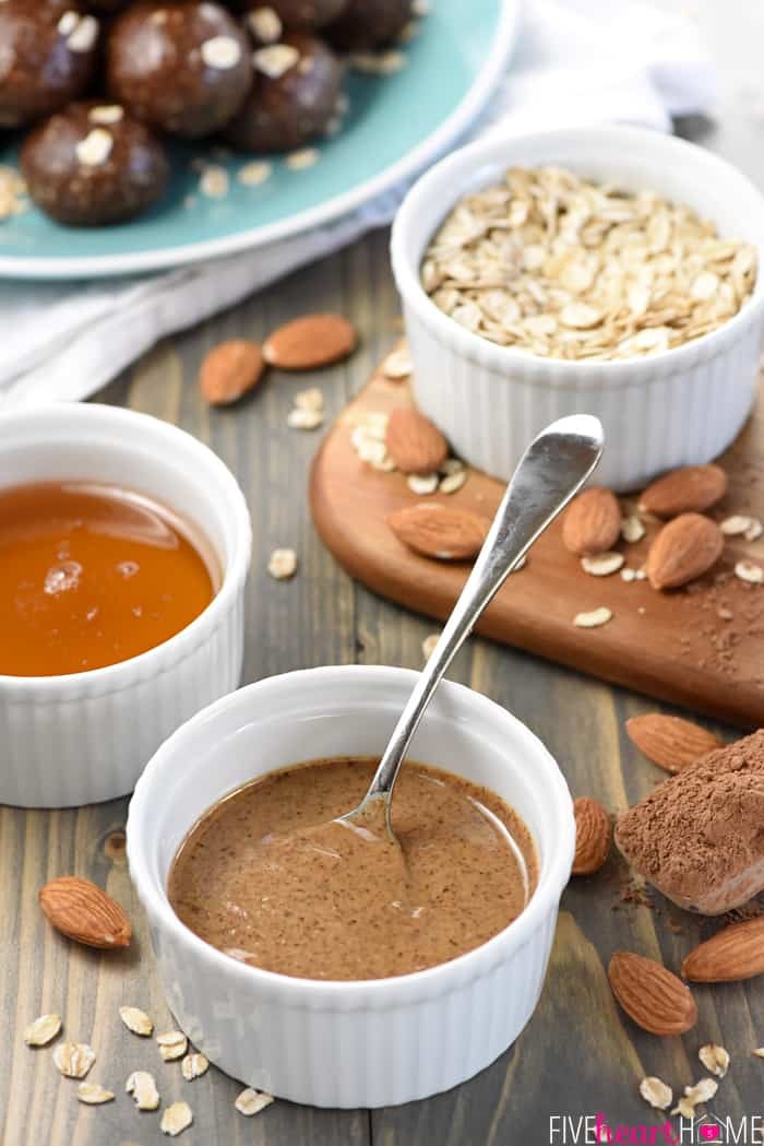 Almond Butter, Honey and Oats