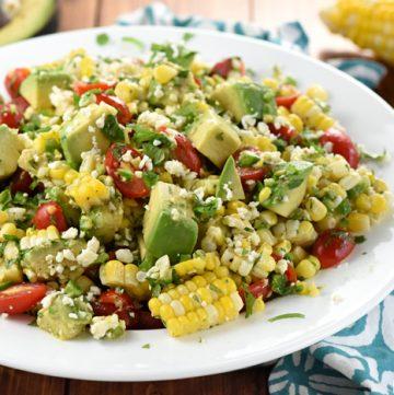 Corn, Tomato, & Avocado Salad