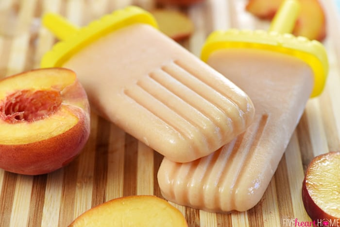 Peach Buttermilk Popsicles