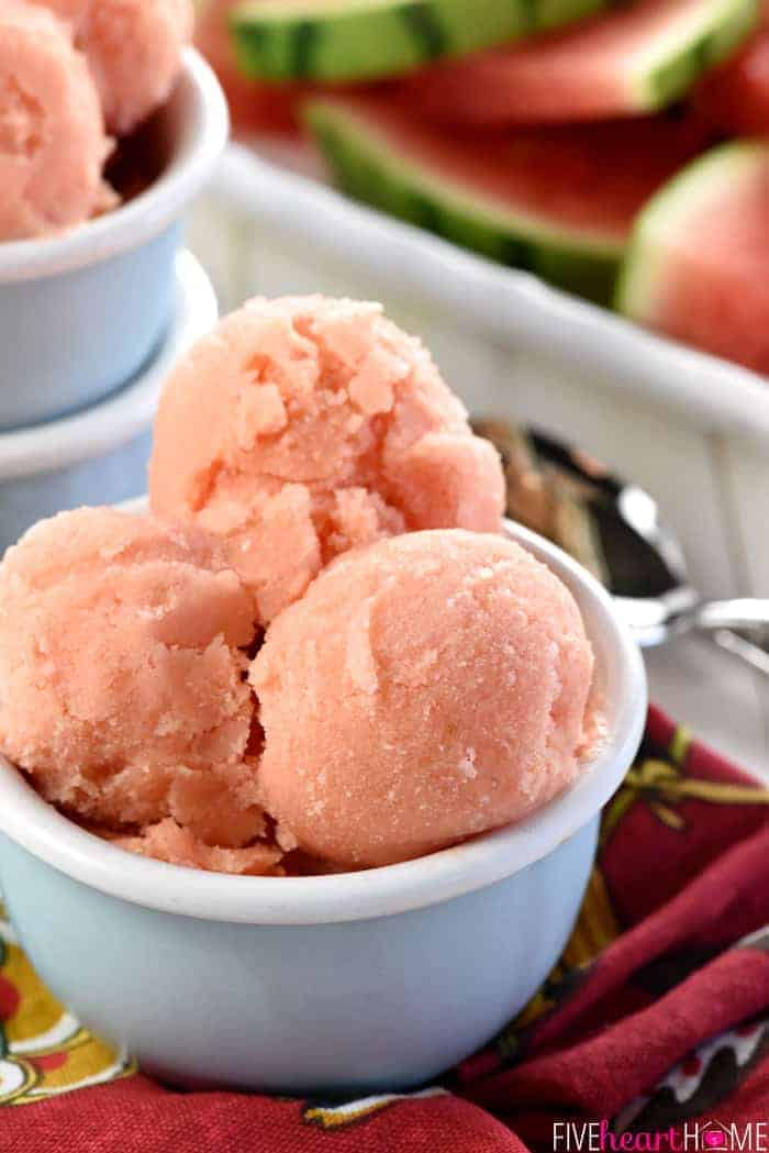 2-INGREDIENT WATERMELON SHERBET