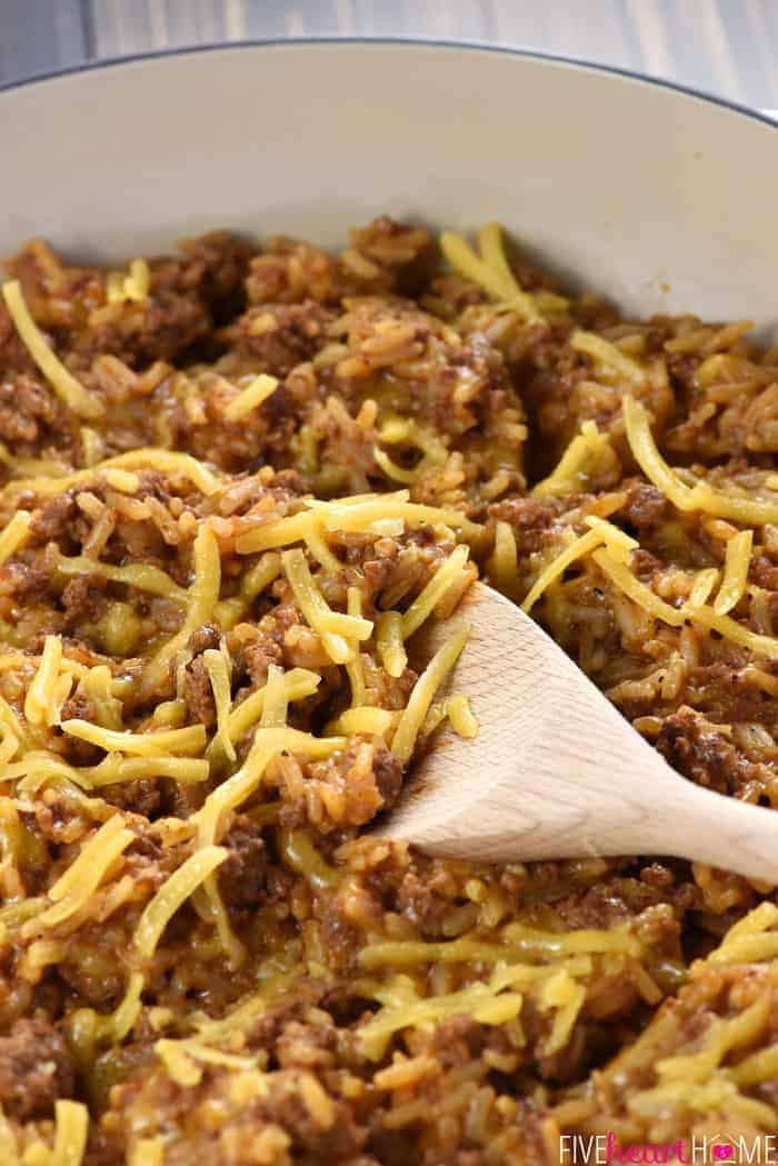 One Pan Cheesy Beef Taco Skillet A Quick And