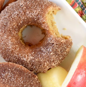 Baked Apple Cider Donut on a plate