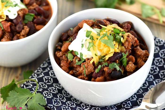 Slow Cooker Beefy Three-Bean Chili