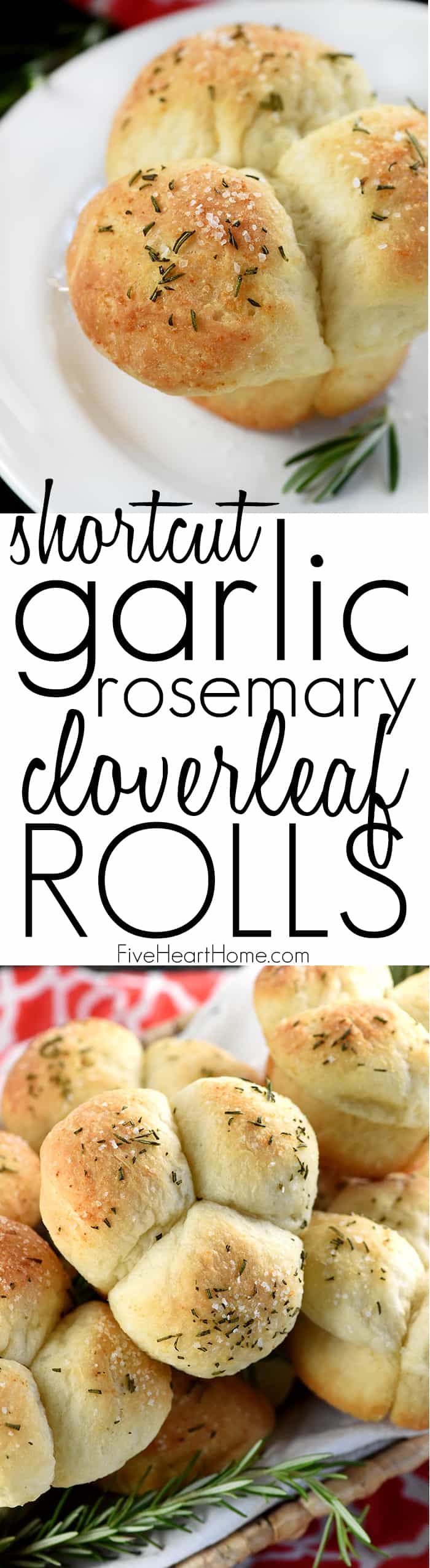 Quick Easy Garlic Rosemary Cloverleaf Dinner Rolls Fivehearthome
