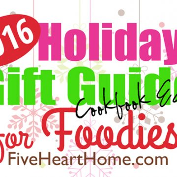 Holiday Gift Guide for Foodies ~ *Cookbook Edition*