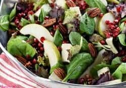 Holiday Salad ~ AKA, Pomegranate, Pear, Pecan, & Brie Salad