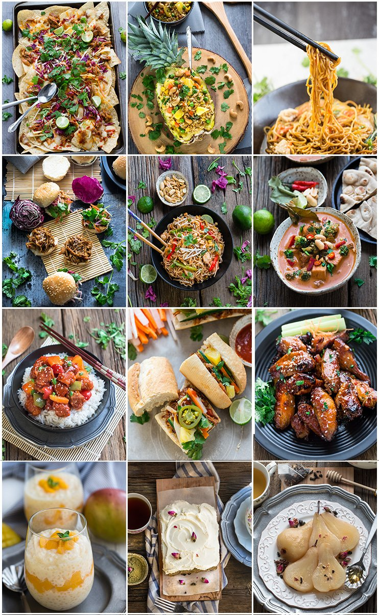 Collage of Asian slow cooker recipes