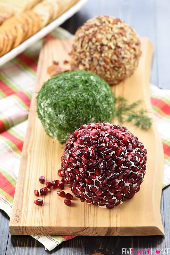 Christmas Cheese Ball.Christmas Ornament Cheese Balls
