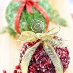 Christmas Ornament Cheese Balls ~ a fun, festive addition to your holiday party menu in three mouthwatering flavors -- Cranberry, Blue Cheese, & Pecan; Garlic, Feta, & Dill; and White Cheddar, Rosemary, & Pomegranate! | FiveHeartHome.com