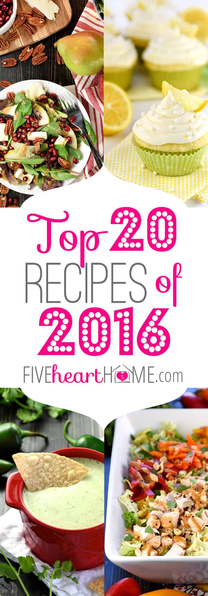 Five Heart Home's Top 20 Recipes of 2016 ~ a countdown of the year's highest traffic, most popular recipes! | FiveHeartHome.com