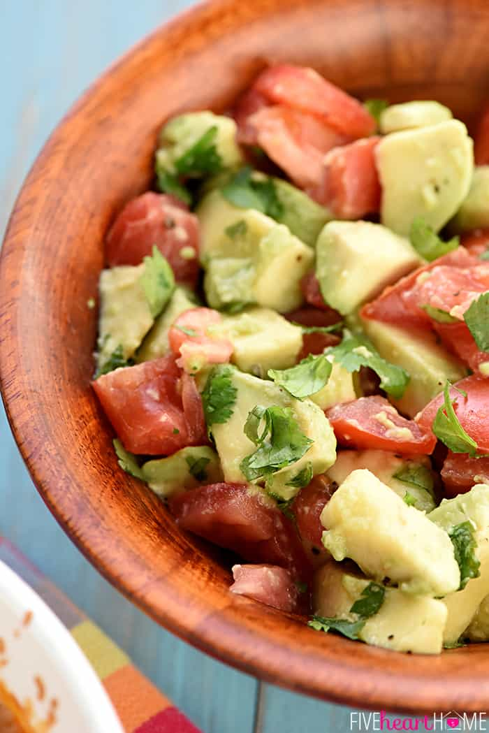 Avocado, Tomato and Cilantro Topping