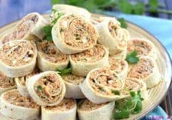 BBQ Chicken Tortilla Pinwheels